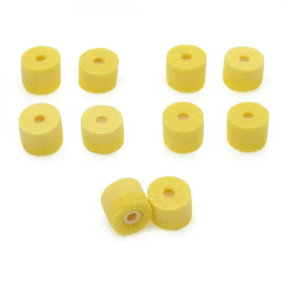 Protetor de Espuma para Fone EAYLF1-10 Shure Amarelo 10 Unidades  - Casa do Roadie