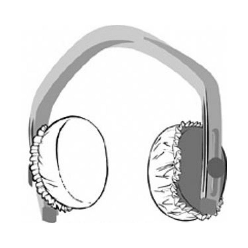 Protetor para Headset e Fone de Ouvido em TNT Branco - Kit com 10 Pares  - Casa do Roadie
