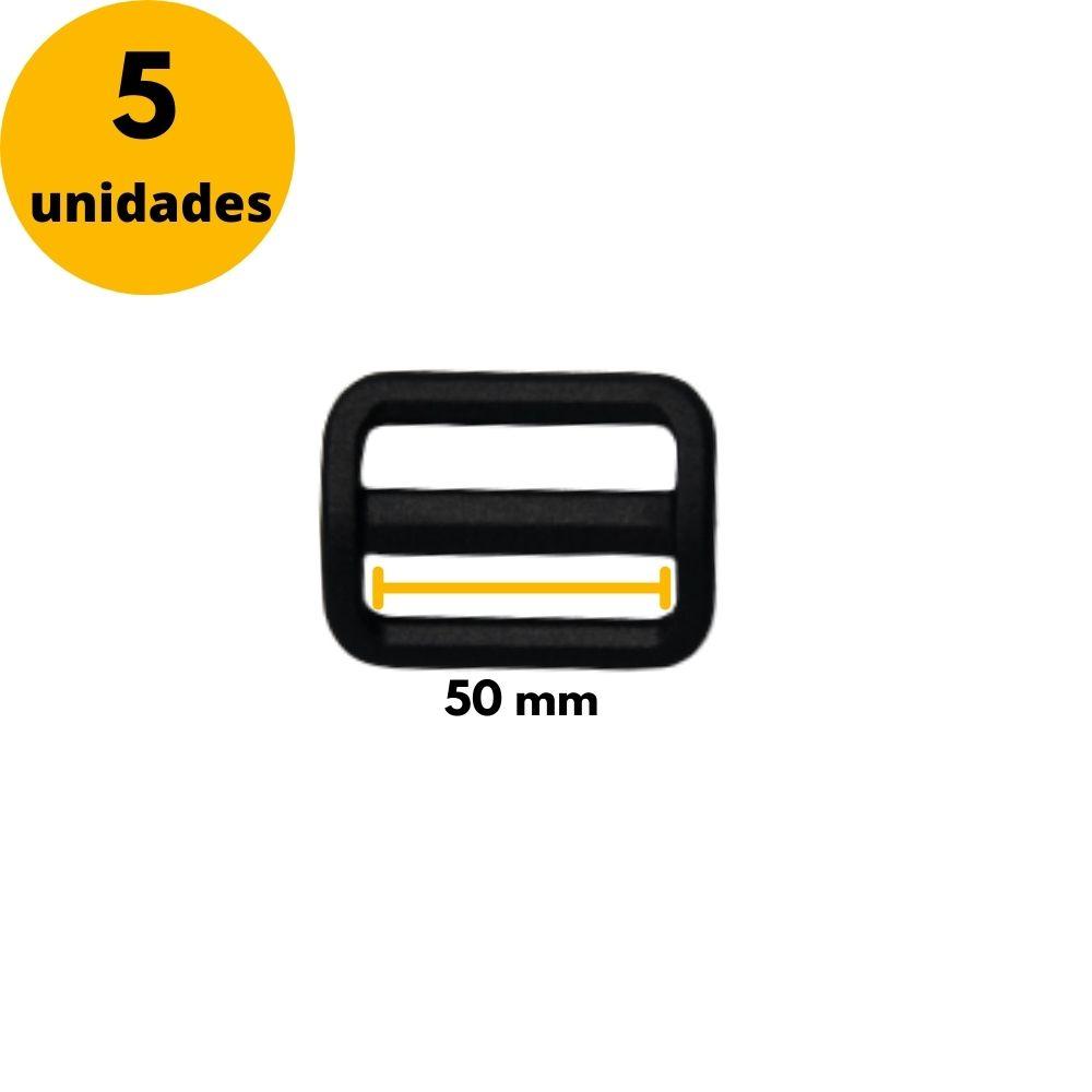 Regulador de nylon para fitas 50mm YKK - Kit com 5 Unidades