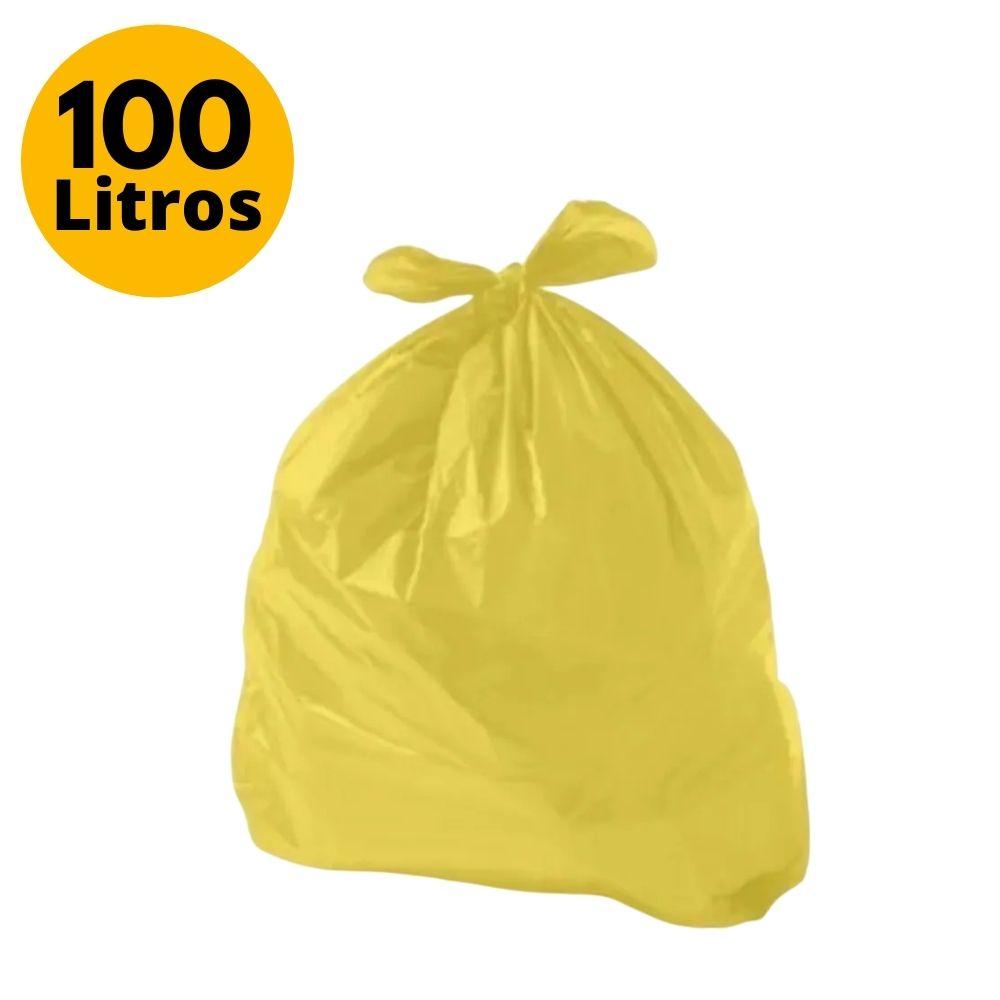 Saco de Lixo 100L Comum Amarelo - 25 Unidades
