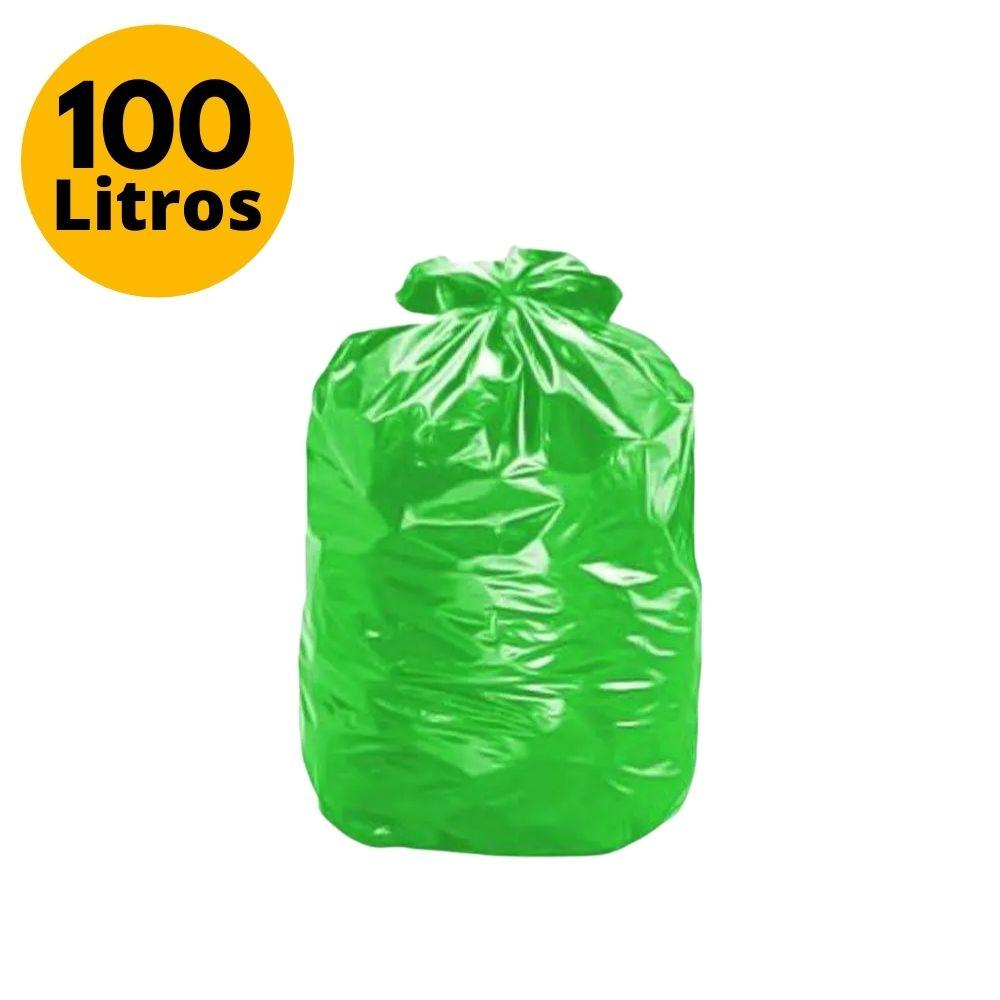 Saco de Lixo 100L Comum Verde - 25 Unidades