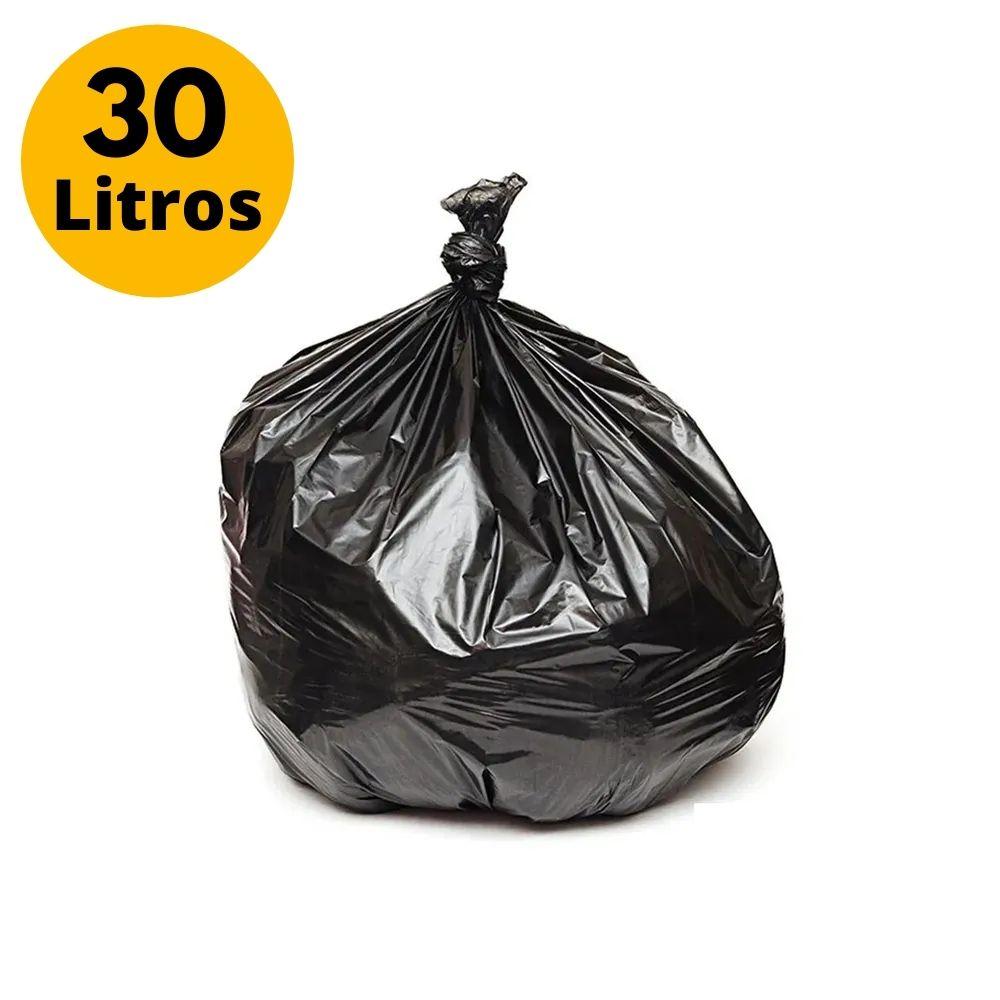 Saco de Lixo 30L Reforçado - 10 Unidades  - Casa do Roadie