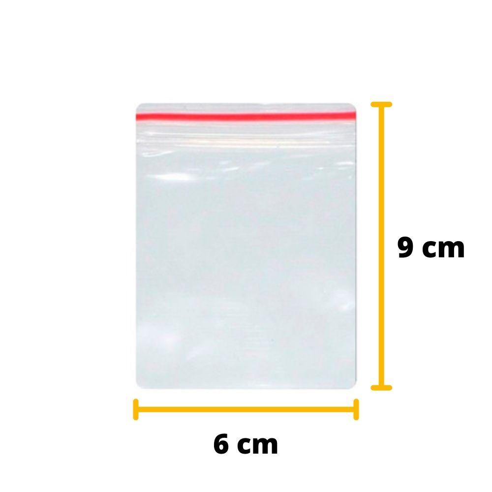 Saco Zip Lock N2 6cm X 9cm Transparente  - Unitário