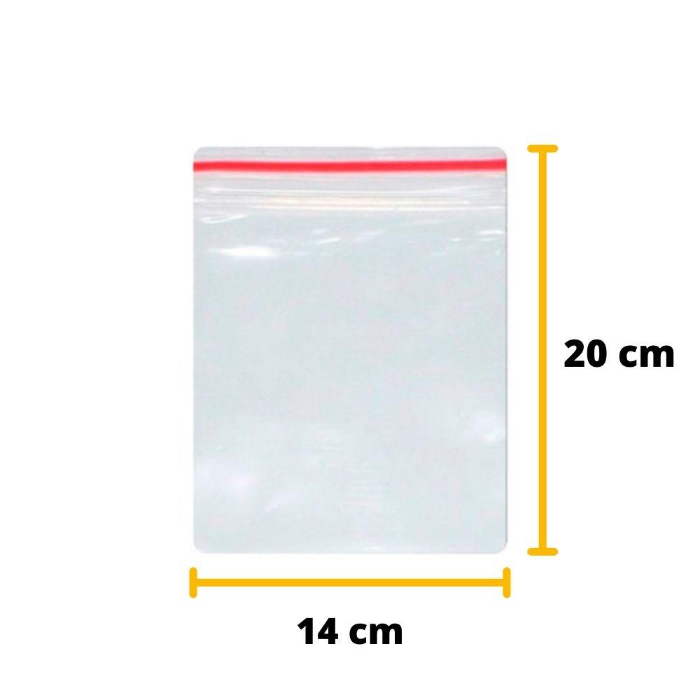 Saco Zip Lock N7 20cm x 14cm Transparente - 100 unidades