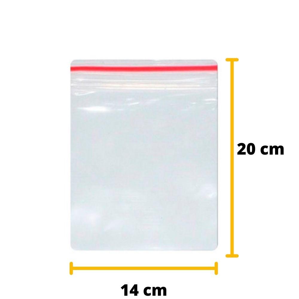 Saco Zip Lock N7 20cm x 14cm Transparente - Unitário