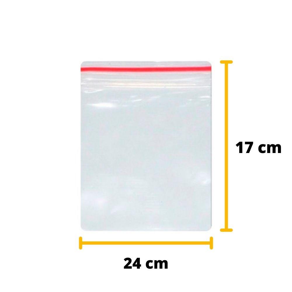 Saco Zip Lock N8 17cm X 24cm Transparente Unitário