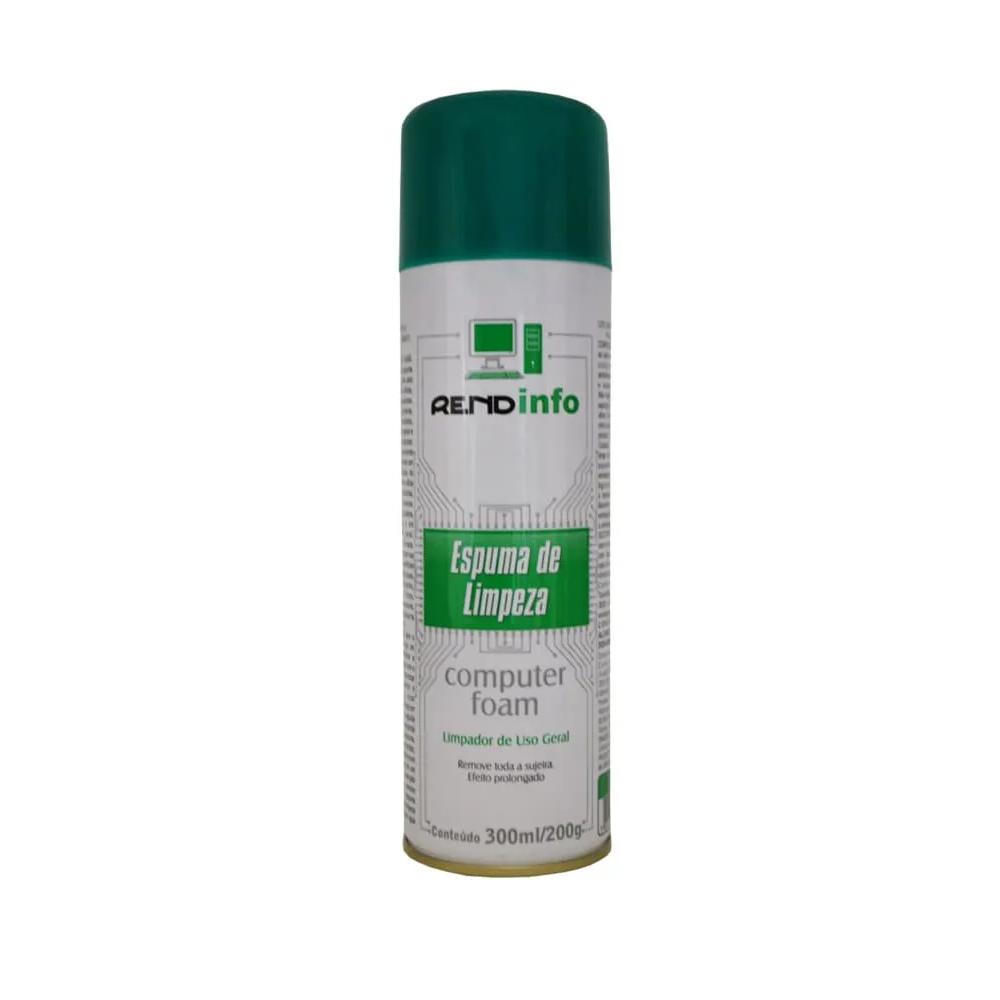 Spray de Espuma para Limpeza de Eletrônicos Computer Foam Rendinfo 200g