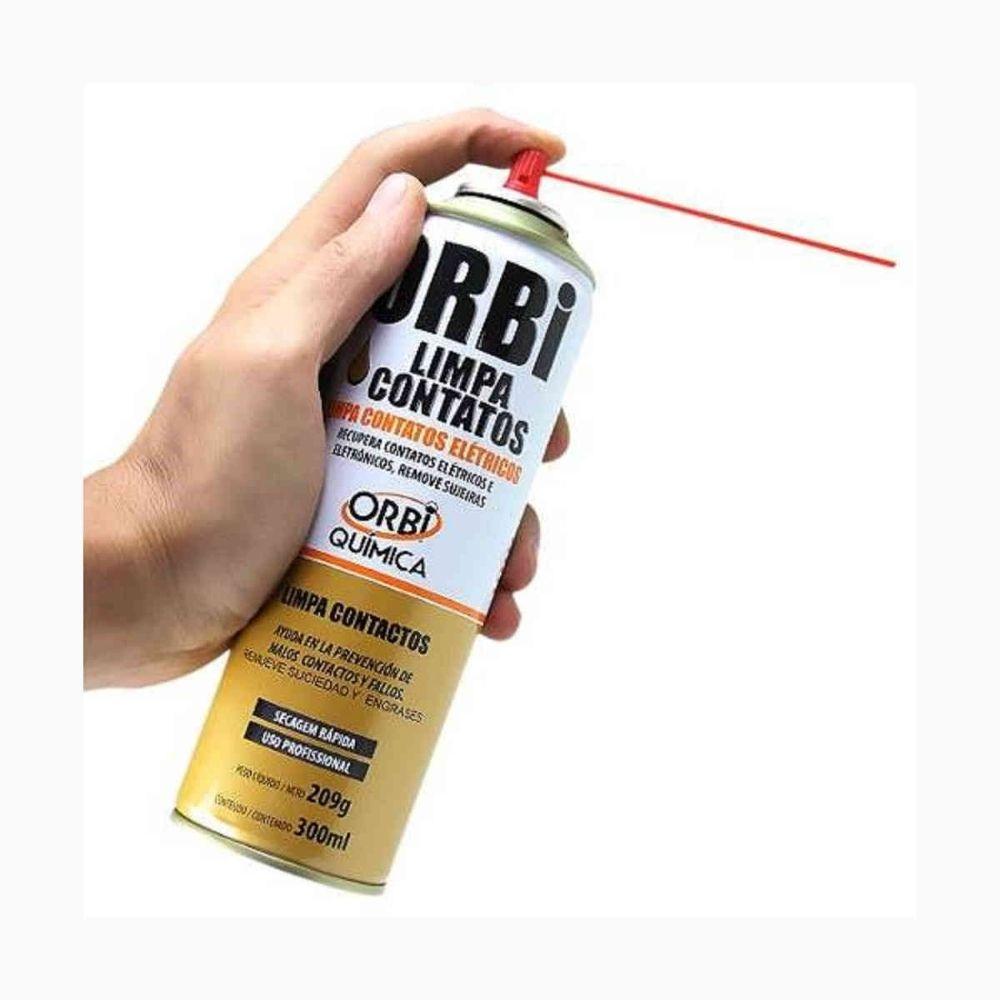 Spray de Secagem Rápida Limpa Contato Orbisil 300ml