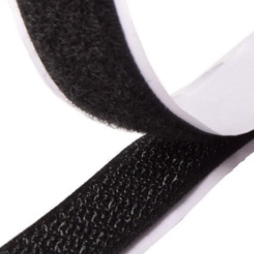 Tira de Contato Adesivo Fêmea + Macho Velfix 50mm X 1m Preta