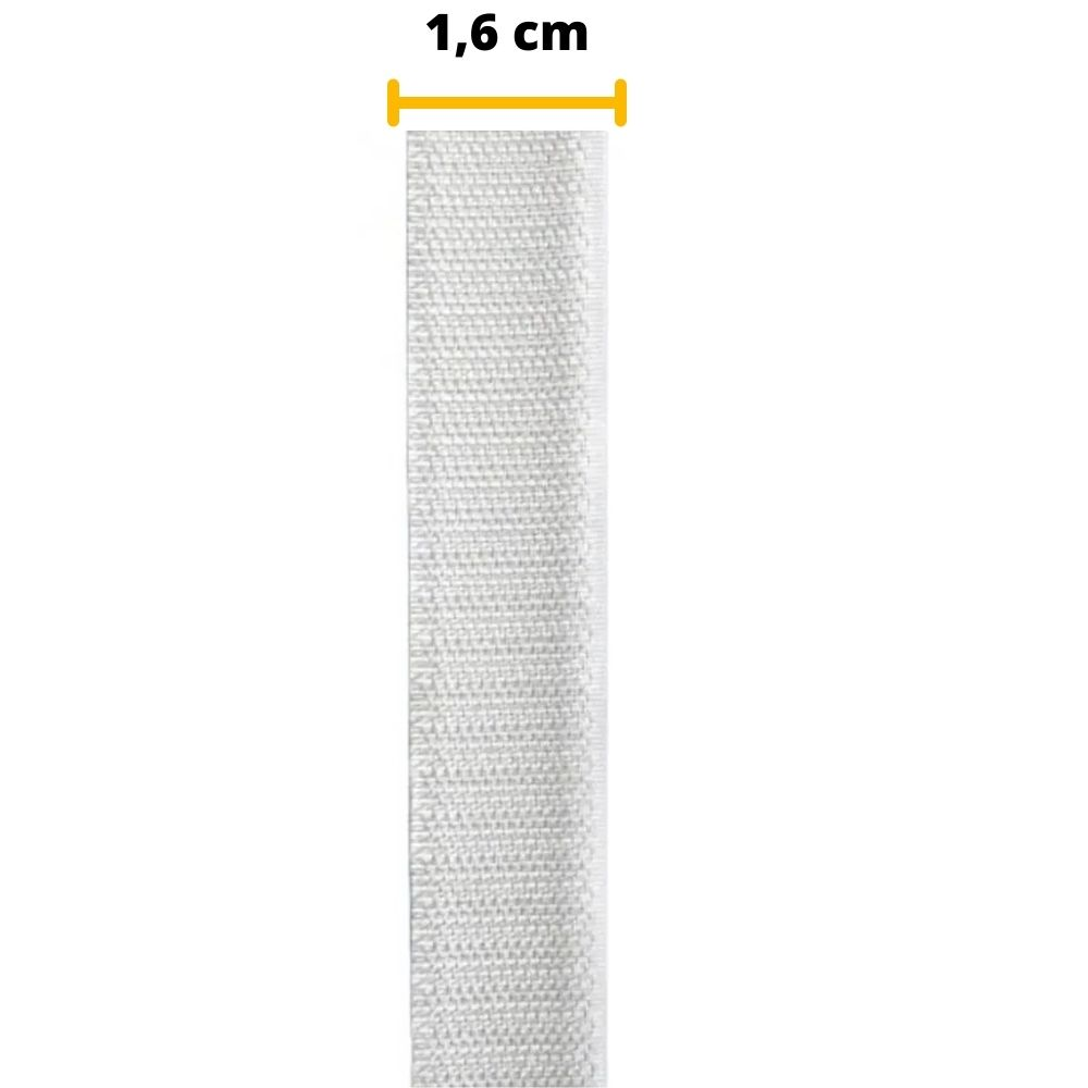Tira de Contato Adesivo Macho Velfix 16mm X 1m Branca  - Casa do Roadie