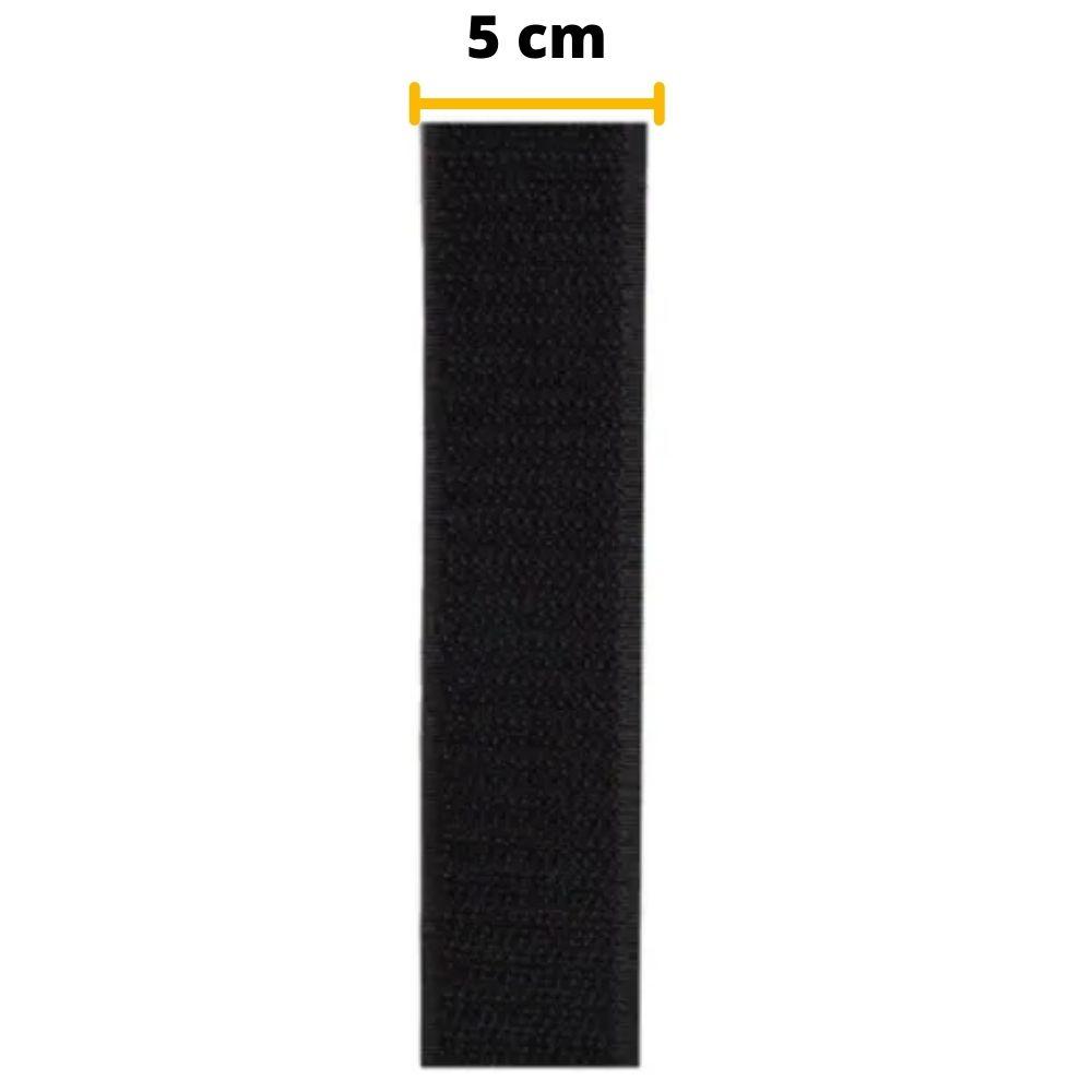 Tira de Contato Adesivo Macho Velfix 50mm X 1m Preta