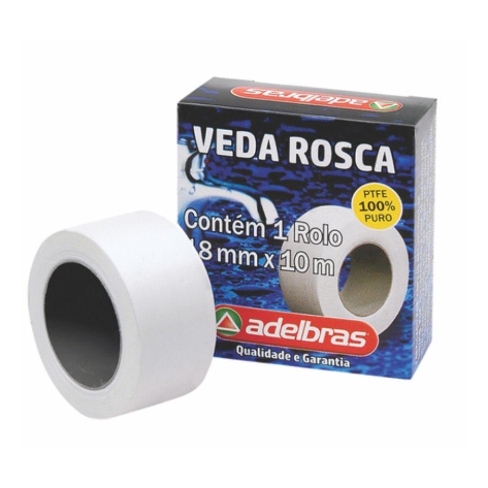 Veda Rosca Adelbras 18mm X 10m Branca