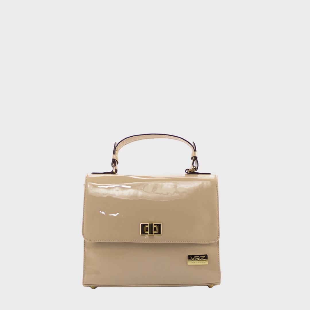 Bolsa Tote Couro Cerâmica Verniz