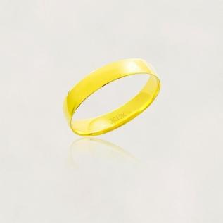 Aliança em Ouro 10k Meia Cana Largura : 4,0 mm