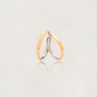 Aliança em Ouro 18k com Aço Cirúrgico Largura : 3,5 mm