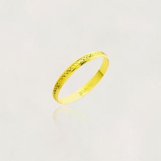 Aliança em Ouro 18k Diamantada A38F Largura :2,50mm