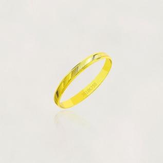 Aliança em Ouro 18k Diamantada A40F Largura : 2,50 mm