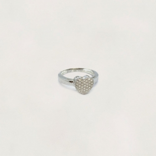 Anel em Prata 0925 Coração