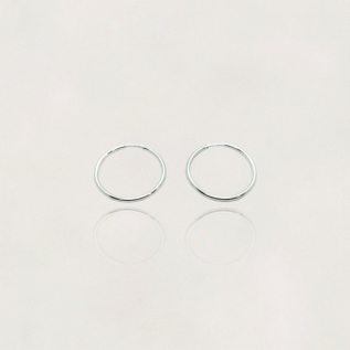 Argola em Prata 925 Fio redondo de 3.0 mm