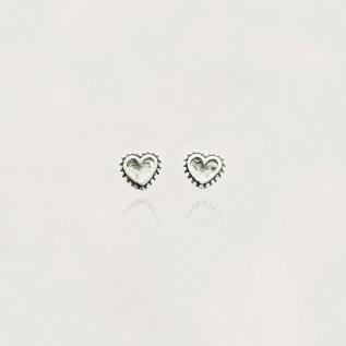 Brinco em Prata 0925 Coração