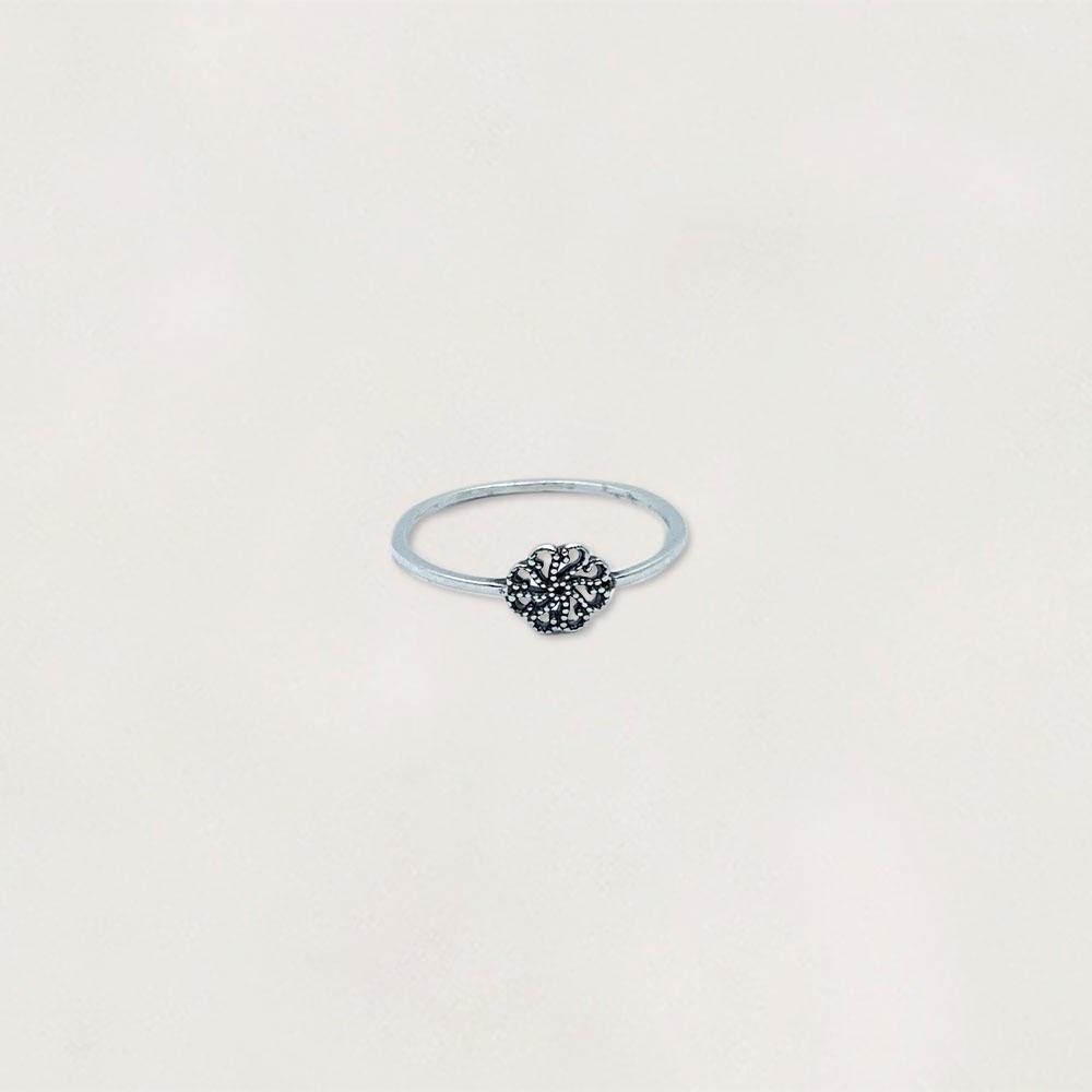Anel em Prata 0925 Flor