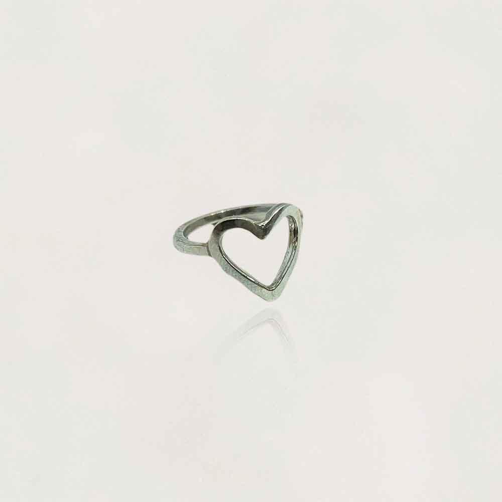Anel em Prata 0950 Coração