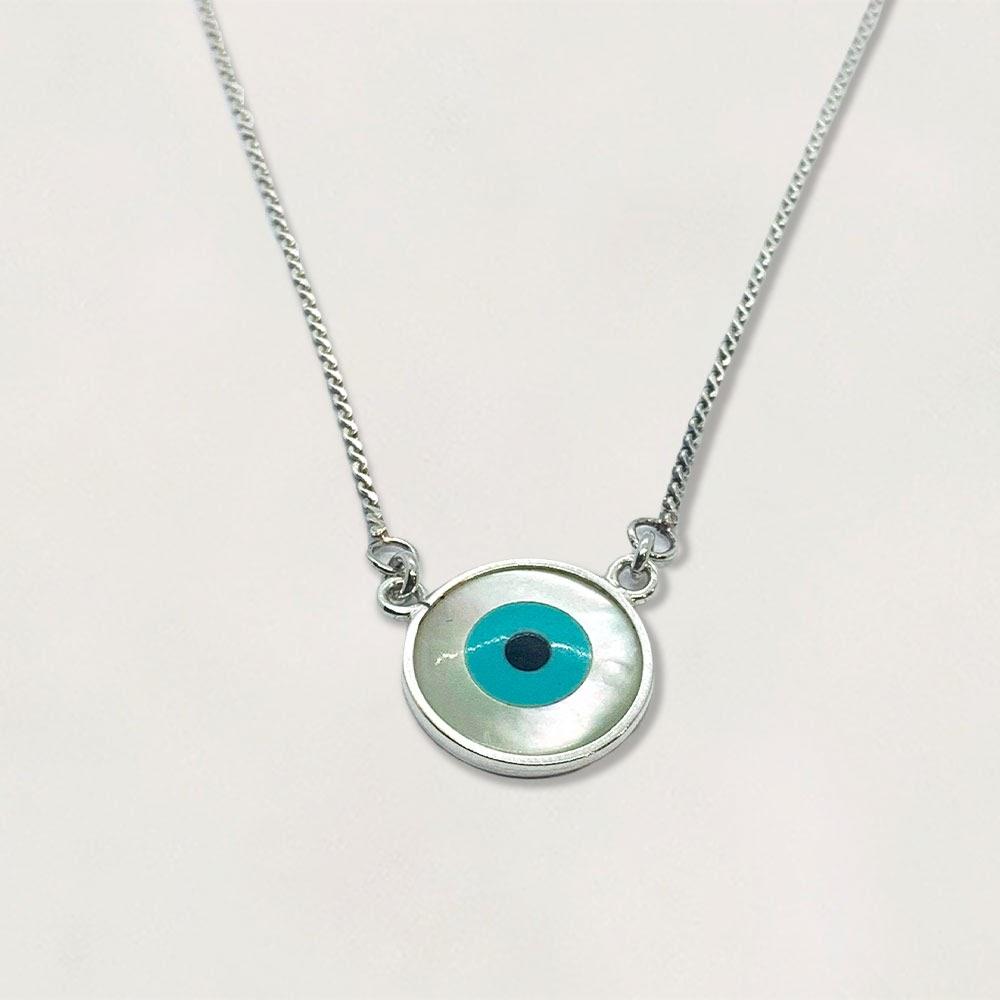 Cordão em Prata 0925 Olho Grego