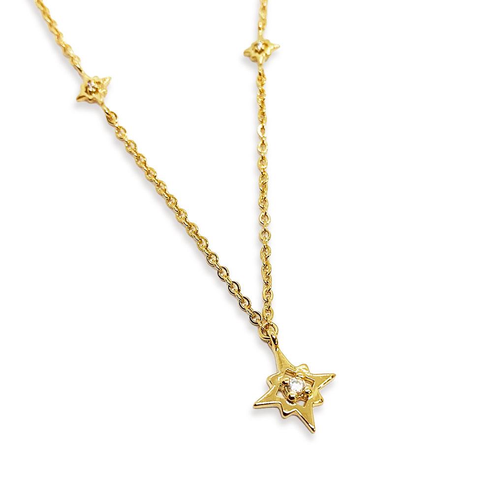 Gargantilha Semi Jóia Choker Star com Zircônias Tamanho: 36.0 cm