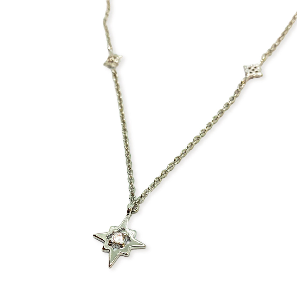 Gargantilha Semi Jóia Choker Star Rodinada com Zircônias Tamanho: 36.0 cm