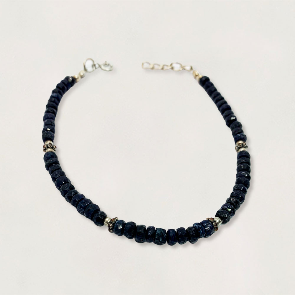 Pulseira em Prata 0925 Quartzo Azul