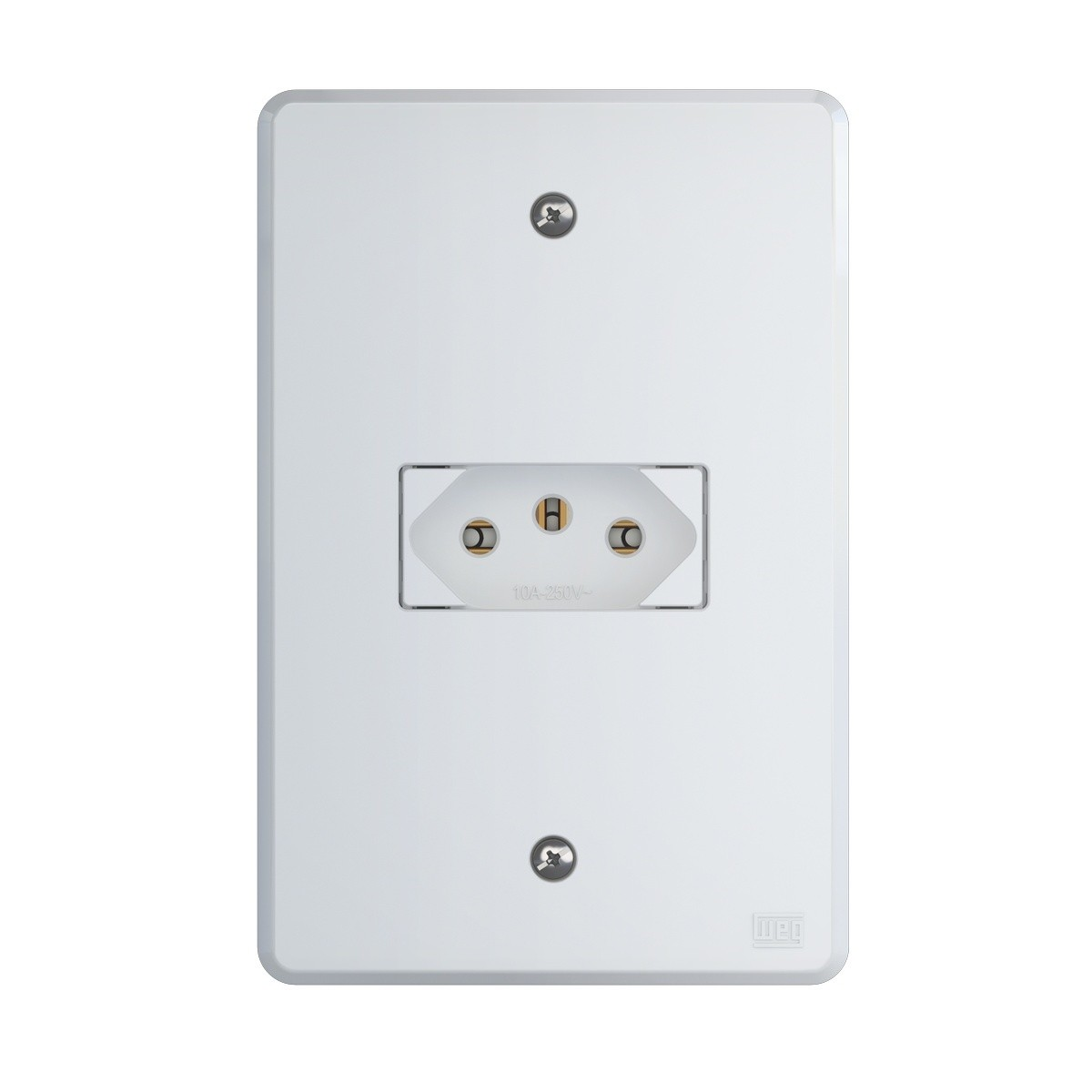 TOMADA WEG EQUILLE SIMPLES 2P+T 10A 250V