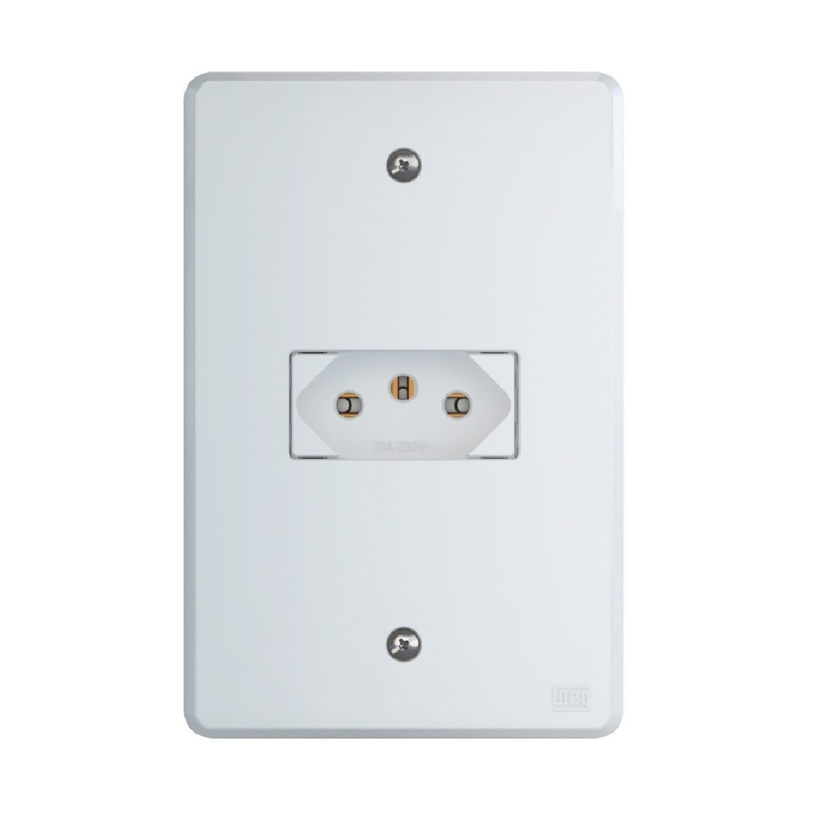 TOMADA WEG EQUILLE SIMPLES 2P+T 20A 250V
