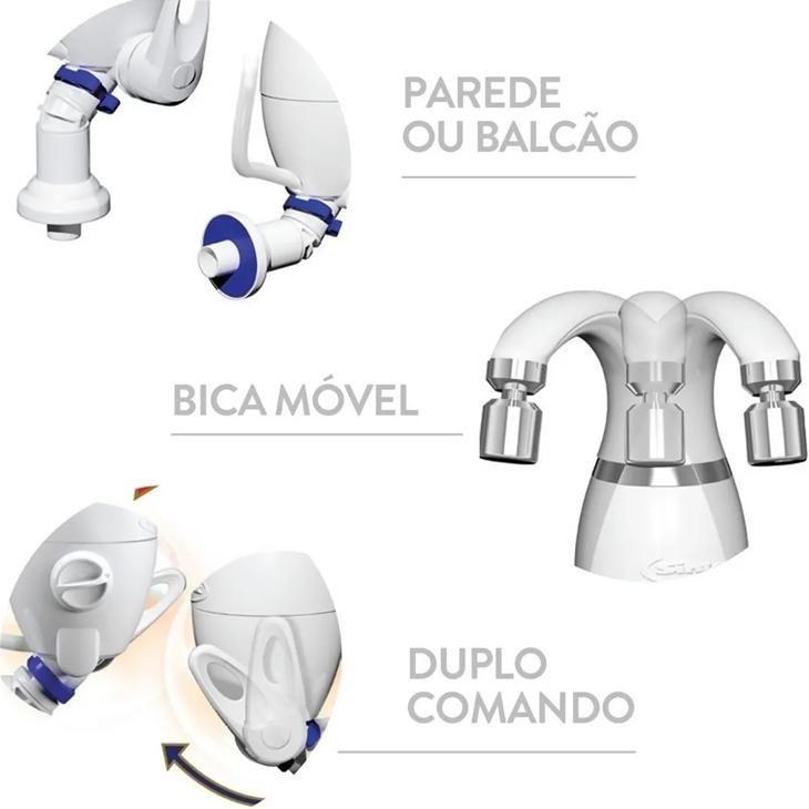 TORNEIRA ELETRÔNICA SINTEX MESA/PAREDE BRANCA