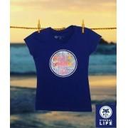 Camiseta Estampada Eternal Life Style Feminina Azul