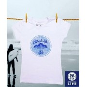 Camiseta Estampada Eternal Life Style Feminina Branca