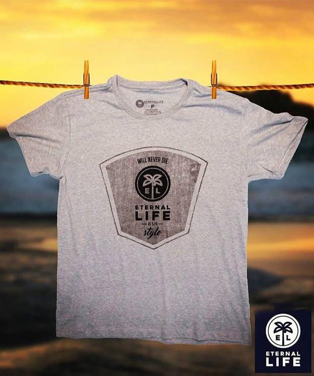 Camiseta Estampada Eternal Life Style Masculina Cinza