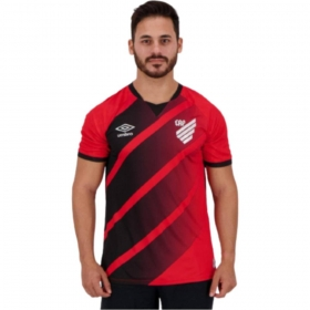 Camisa Oficial Athletico Paranaense I 21/22 S/N Vermelho Preto