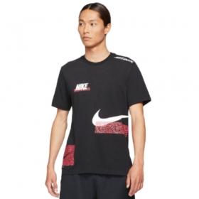Camisa Nike DF Tee Slub Preto Vermelho
