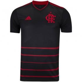 Camisa Oficial Flamengo III 20/21 Patrocínio Masculino Preto Vermelho