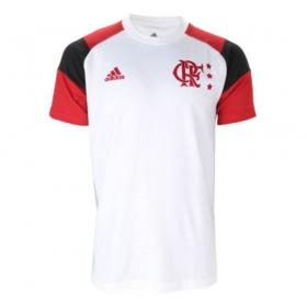 Camiseta Oficial Flamengo Icon Nº 10 Masculino Branco Vermelho