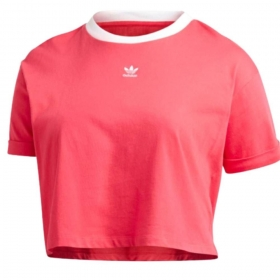 Camiseta Cropped Adidas Originals Plus size