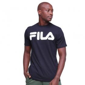 Camiseta Fila Letter II Preto Branco