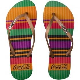 Chinelo Coca-Cola Colored Lines