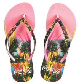 Chinelo Coca-Cola Tropical Color