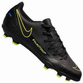 Chuteira de Campo Nike Phantom Academy - Preto, Azul e Amarelo