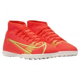 Chuteira Nike Society Superfly 8 Laranja Verde