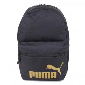 Mochila Puma Phase Preto e Dourado