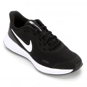 Tênis Nike Revolution 5 Feminino Preto e Branco