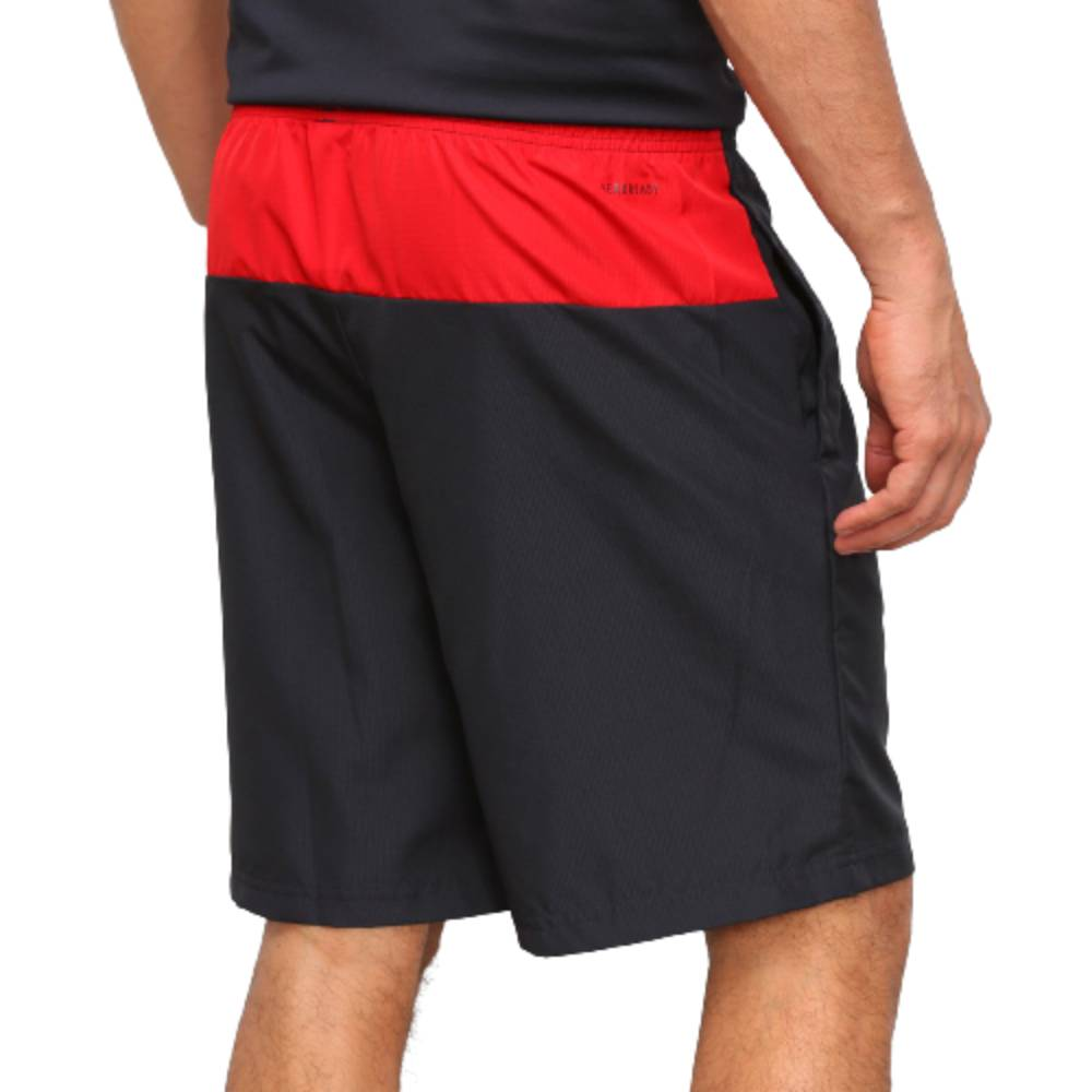 Bermuda Adidas Colorblock Woven Preto Vermelho