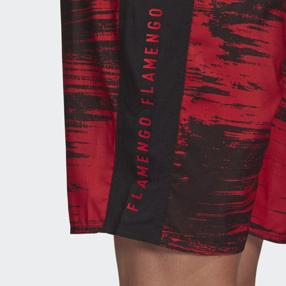 Bermuda Flamengo Natação 2020 Preto Vermelho